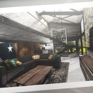 loft style open plan industrial barn conversion