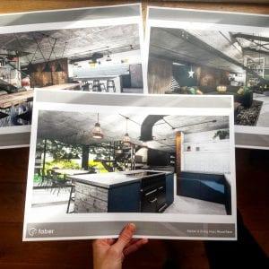 open plan loft style kitchen